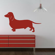 Dachshund Silhouette Canine Pet Dogs Wall Stickers Home Decor Art Decals