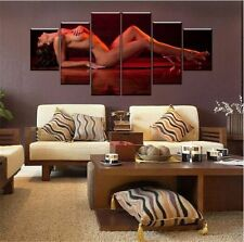 Hand-painted Oil Painting Wall Art Home Decor Sexy Nude Woman 6pc