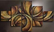5 Pieces Large Modern Abstract Art Hand-Painted Oil Painting Wall Decor Canvas
