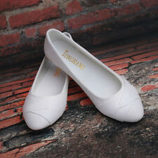 Women's Low-top Oxfords Faux Leather Loafers Nurse Shoes Pointy Toe Ballet Flats