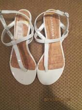 Rampage NEW Womens White Patent Wedge Sandal Style Selery Size 6 1/2 M