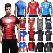 MARVEL Superhero Batman T Shirts Cycling Fitness Shirt Fancy Jerseys Gym Tops