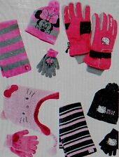 U Pick New HELLO KITTY HAT GLOVE SET MINNIE MOUSE BLACK PINK Girls 7-16 Disney