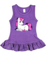 Purple Unicorn Kids Dress Toddler Cute Gift Alternative Punk Rockabilly Sparkle