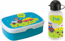 Lunch box Rosti Mepal Campus midi and Drinking bottle with name Bread box