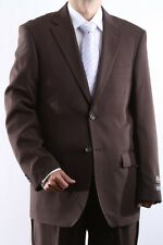 MENS TWO BUTTON SUPERIOR 100 BROWN DRESS SUIT, SML-60212S-60208-BRO