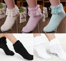 Lace Fashion Ankle Socks New  Ruffle Frilly Hot Cute Princess Girl Sweet Women