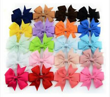 1PC Big Boutique Grosgrain Bow Hairpin Fashion New Ribbon Clips Hair Girls Baby