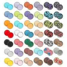 """500pcs New MIX FLAT DOUBLE SIDED COLORS 1"""" BOTTLE CAPS Flattened Linerless"""