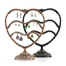 58 Holes Heart Earring Jewelry Display Stand Holder Organizer Metal Show Rack