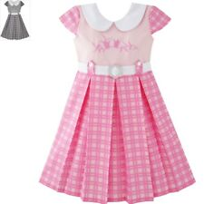 Sunny Fashion Girls Dress Pink Belted School Uniform Pleated Hem Size 4-14