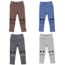 Hot Cat Print Lovely Kids Baby Girl Baby Tight Pants Stretch Warm Leggings 2-7Y