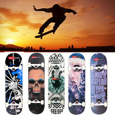 "Professional Skateboard Complete 4 Wheels Truck Maple Deck 31*8"" Longboard NEW"