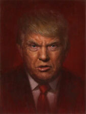 US President Trump 100% Hand Painted Oil Painting on Canvas 24''x36''