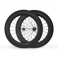 700C Wheels 88mm Tubular Carbon Wheels Road Bike Wheelset