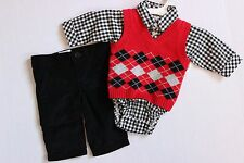 Just One You by Carters Special Occasion Newborn Boys Corduroy 3-pc Set - NEW