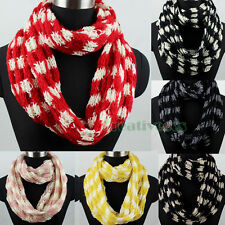 Fashion Women's Knit Warm Infinity Loop Cowl Eternity Endless Casual Scarf New