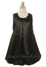 New Flower Girls Black Fancy Dress Sizes 2-14 Party Easter Christmas Pageant 242