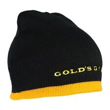 Golds Gym Beanie Two-Tone Knit Hat Gym Fitness / ONE SIZE / NEW