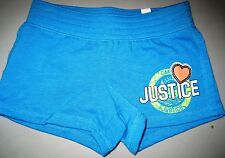 NWT Justice Girls Knit Camp Glam Sequin Logo Athletic Shorts U Pick Size NEW
