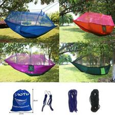 Portable Hammock Hanging Sleeping Bed Swing Outdoor Travel Camping Double Person