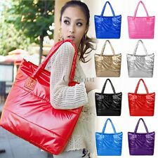 Womens Winter Space bale Tote Shoulder Bag Cotton Quilted Handbag Purse CO99