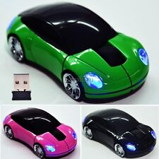 Wireless Optical Car Shaped 1800DPI USB 2.4G Mouse Mice For Laptop PC