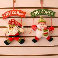Merry Christmas Door Wall Hanging Pendant Snowman Santa Deer Tree Party Ornament