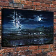 HD Canvas Print Home Decor Wall Art Painting Moonlit Castle 18''x24''