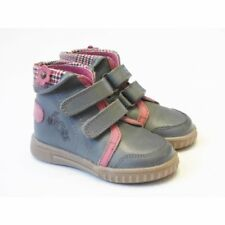 Girls Grey Leather Ankle Boot With Pink Collar | SALE Hush Puppies Flounder