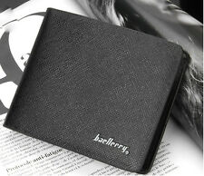 New Fashion Men's PU+Leather Wallet Pockets Card Clutch Cente Bifold Purse