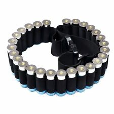Black Tactical Shotgun Shell Belt Shotshell Holder Bandolier Ammo Hold 27 shells