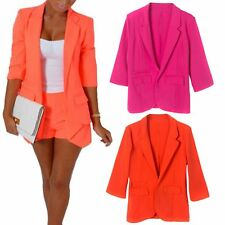 Women's Fashion Solid Slim Casual Suit Blazer Coat Jacket Outerwear Candy Colors