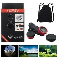3in 1 Clip On Camera Lens 180° Fish eye+Wide Angle+Macro For Cell Phone,with box
