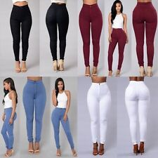 Women Pencil Stretch Slim Fit Denim Skinny Jeans Pants High Waist Jeans Trousers