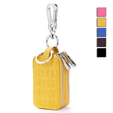 Newly Men Women Keys Case Car Home Key Zips Holder Double Layers Pouch Handy Bag