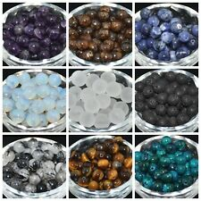 Wholesale Natural Gemstone Round Spacer Loose Beads 4MM 6MM 8MM 10MM Charms DIY