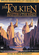 J.R.R. Tolkien: Master of the Rings (DVD,CD & Booklet Set) New Lord of the Rings