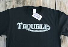 Vintage style Triumph Trouble TEE-SHIRT T-SHIRT Harley Indian BSA Norton S-3X