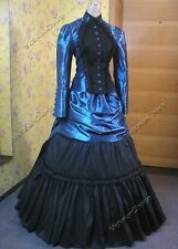 Victorian Edwardian Titanic Bustle Prom Dress Steampunk Theatrical Clothing 139
