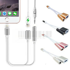 2in1 Lightning to 3.5mm Audio Headphone Adapter Charger Cable Fr iPhone 7 / Plus