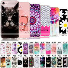 Cute Fashion Pattern Skin Rubber Soft Silicone TPU Back Case Cover For Apple