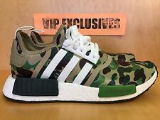 Adidas NMD R1 Bape Green Camo Army Bathing Ape Nomad Runner BA7326 SHIPPING NOW