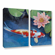 'Koi and Water Lily' Gallery wrapped canvas