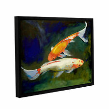 'Feng Shui Koi Fish' Gallery Wrapped Floater-framed Canvas