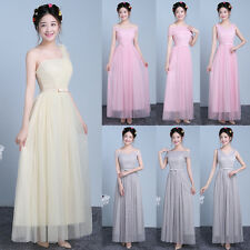 Multi Style Women Formal Long Wedding Bridesmaid Evening Party Cocktail Dress
