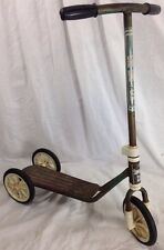 vintage childs scooter push type 3 wheel model SING SING Deco / restore