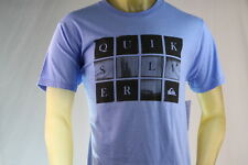 """QUIKSILVER """"LOOKING GLASS"""" BLUE (LBH) GRAPHIC T-SHIRT Size Large"""