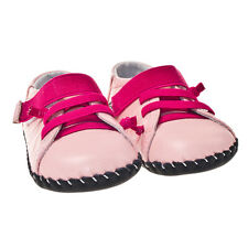 Little Blue Lamb Girls Pink Leather Soft Sole Baby Shoes.