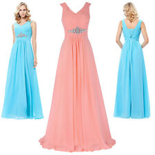 Formal Chiffon Long Prom Bridesmaid Evening Dress Sexy Party Cocktail Ball Gowns